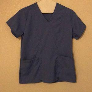 Women's Small Blue Scrubs Top